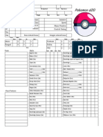 Pokemon d20 Character Sheet