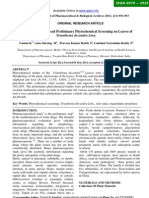 Pharmacognostical And Preliminary Phytochemical Screening on Leaves of Trianthema decandra Linn.