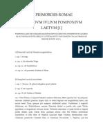 De Primordiis Romae Secundum P. Laetum(1)