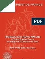 HOMMAGE DES FRANCS-MAÇONS