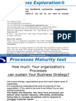 Process Maturity Test - Business process organization maturity model BPMM