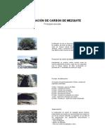 Elaboración de carbon de mezquite