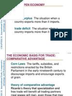 Lecture 14 (2011) - Open Economy (Part 1)