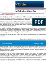 What is Calculus Used For