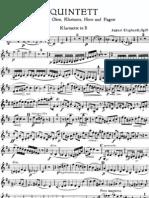 [Free Scores 1.Com] Klughardt August Wind Quintet Clarinet Part 25460