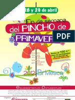 Cartel Fin de Semana Pincho Primavera 2012