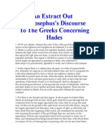 An Extract Out of Josephus's Discourse to the Greeks Concerning Hades