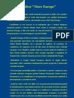 Manifest more europe rumano