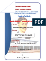 SOFTWARE LIBRE MONOGRAFÍA