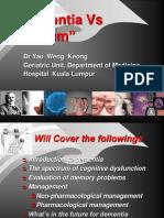 Dementia vs Delirium Acad of Med, 21st April