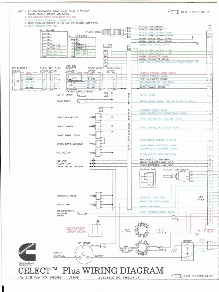 wiring diagrams l10 m11 n14 fuel injection throttle rh es scribd com cummins wiring schematic n14 cummins ecm wiring schematic