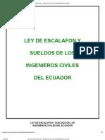 Ley de Escalafon y Sueldos de Los Ingenieros Civiles Ecuador