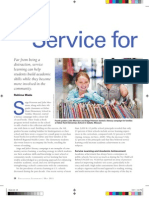 Service for Learning Article