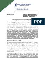 Bank Negara Economic Report 2011