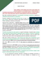 DCO - Ações Constitucionais - ação popular