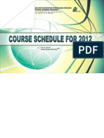 Niosh Course Schedule 2012