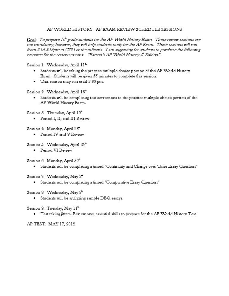 modern world history essay questions