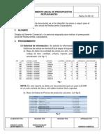 Proceso-herramienta Presupuestos Restaurantes