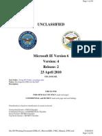 Unclassified Microsoft IE6 V4R2 STIG