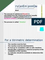 Titrimetry(anEm`pnmQwQy)