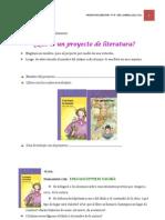 actividades del proyecto de literatura de 3-¦