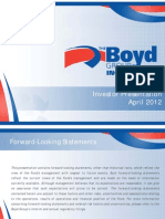 Boyd Group 2011 Q4 Presentation