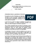 Informe Venezuela Sociedad Interamericana de Prensa- SIP