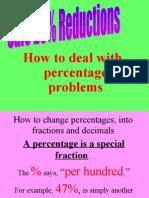 Percentages Decimal