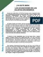 Nota de Prensa Pp - Ya Esta Bien!!