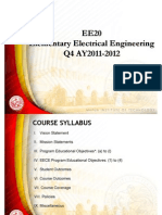EE20 - Elementary EE Lecture(1)