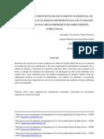 ESTIMATIVA DO COEFICIENTE DE ESCOAMENTO SUPERFICIAL DAS ESCOLAS DA REGIÃO METROPOLITANA DE CUIABÁ