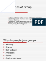 Foundations of Group Behaviour
