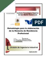 Metodologia Para Trabajo de Res Prof a.d.2010