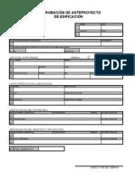Certificado de Aprobación de Anteproyecto de Edificación