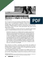 Lowy - Marxismo y religión en Ernst Bloch
