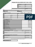 Certificado de Aprobación de Anteproyecto de Loteo