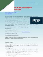 Menulis Arab Di Microsoft Word Dengan Arabic Pad