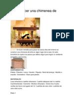 Cómo hacer una chimenea de ladrillos
