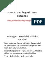 Korelasi Dan Regresi Linear Berganda Web3