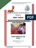 Perfil Mejoram Ampl Agua y Letrinas Cc Machacmarca Distrito Cupi