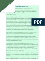 A História da Administração no Brasil (sintese)