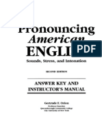 Pronouncing American English Answer Key
