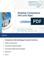 MSTRWorld2012 T1Mobile S5 Adding Transaction Services to Mobile Apps