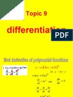 add maths differentiation