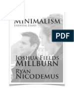 Joshua Fields Millburn, Minimalism - Essential Essays