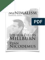 Joshua Fields Millburn, Minimalism - Essential Essays