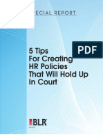 5 Tips for HR Policies