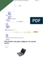 Habilitar Rede Sem Fio Windows Xp