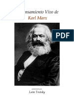 El to Vivo de Karl Marx Por Trotsky