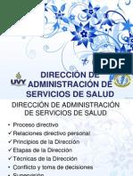 DIRECCIÓN DE ADMINISTRACIÓN DE SERVICIOS DE SALUD